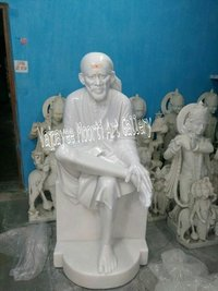 Stone Sai Baba Statue