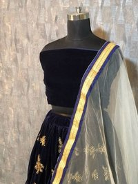 Latest Black Colour  Lehenga