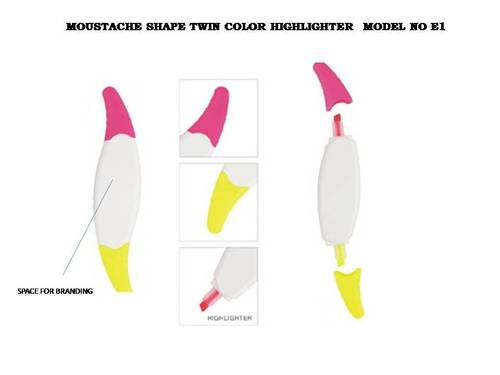 Moustache Shaped Twin Highlighter