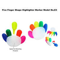 Five Finger Shape Highlighter Marker