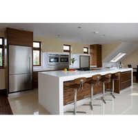 Modular Kitchens In High Gloss and Matt Finish Combination