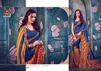 Fancy georgette printed sarees