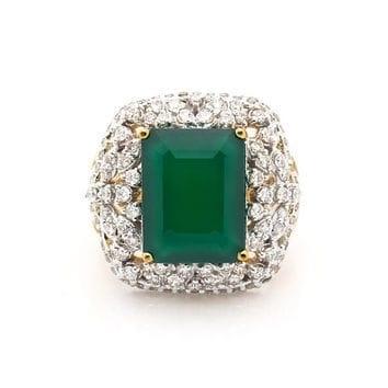 Cz gold stone jewellery