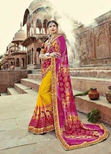 Traditinal Bandhej Saree