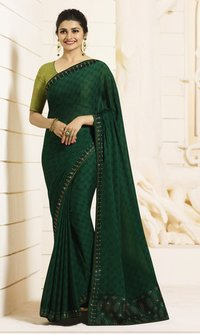 DESIGNER PLAIN SAREE