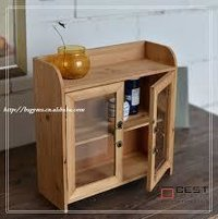 Wooden storage cabinets