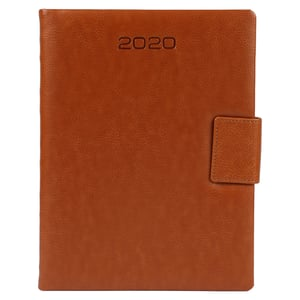 B5 Size - One Day to a Page New Year Diary with Magnet Flap