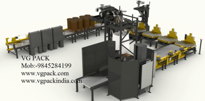 Filling Machine Bulk Container Filler System For Packaging Of Dry Bulk Materials Into Drums And Bulk Bags