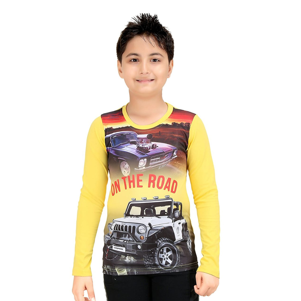 Kids Printed Full Sleeve T Shirt