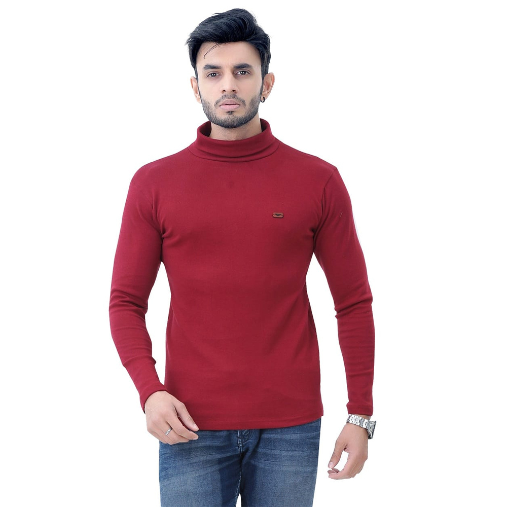 Men's High Neck Full Sleeve T Shirt