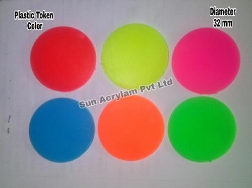Colouring Plastic Tokens