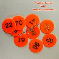 Numerical Plastic Token With Whole
