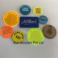 Plastic token With Name
