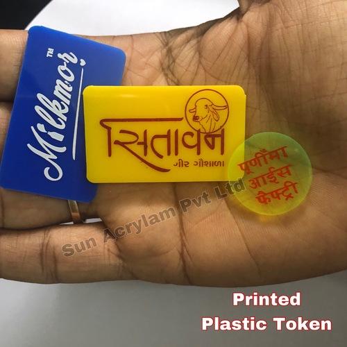 Printed Plastic Token