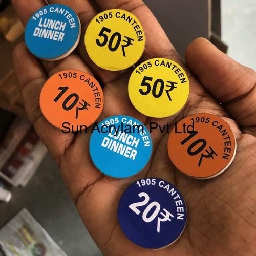 Sticker Token Acrylic