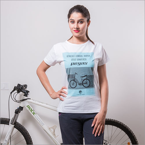 Round Neck Ladies Crew T Shirt