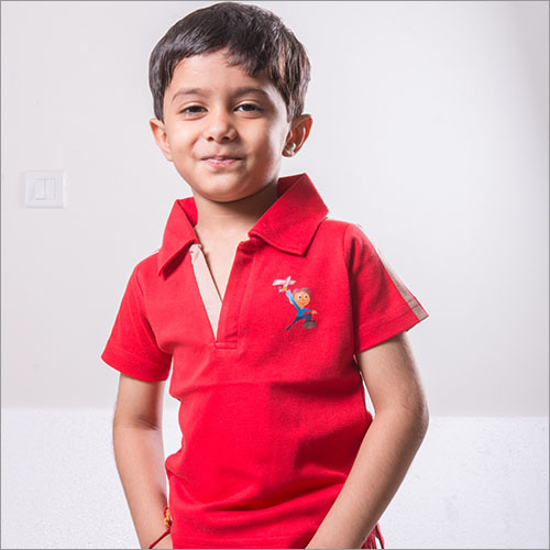 Kids Polo Neck T-Shirt