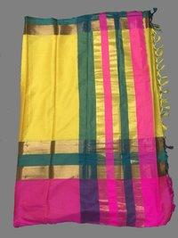 Multi Color Handloom Silk Saree