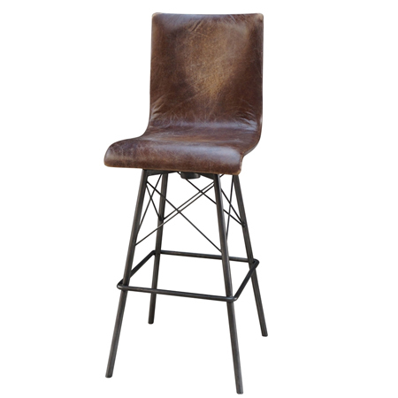 Leather Metal Bar Stools