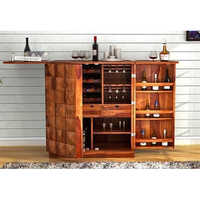 Auric Bar Cabinet Teak Look