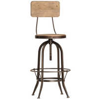 Industrial Crank Bar Stool