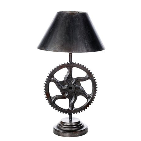 Wooden Gear Lamps