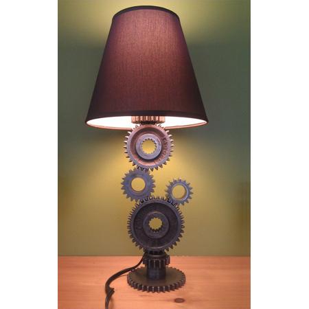 Simple Gear Industrial Table Lamp