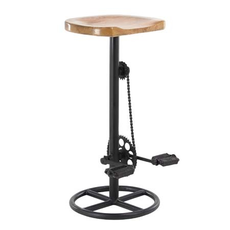 Atalla Industrial Pedal  Gears 32 Bar Stool