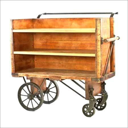 Wooden Carrier Trolley