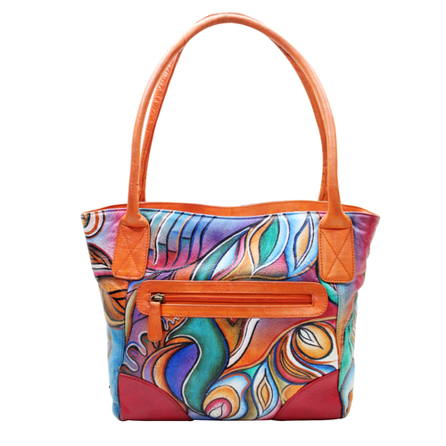 3a99903e8 Women Leather Hand Painted Tote Bag Manufacturer,Women Leather Hand ...