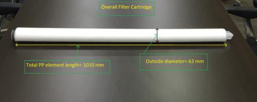 40 Inch Spun Filter Cartridge
