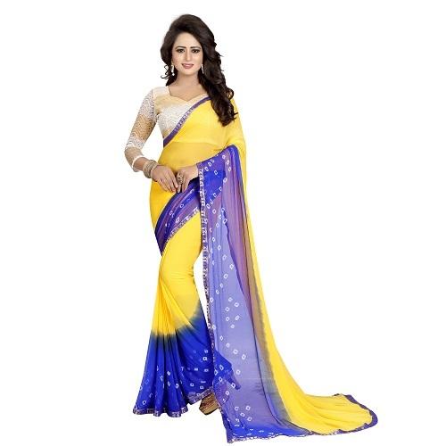 New Bandhani Chiffon Saree