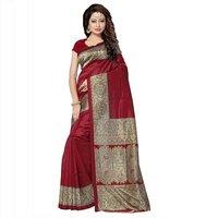 Fancy Print Mysore Silk Saree
