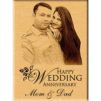 Personalized Wedding Anniversary Gift - Engraved Photo Plaque