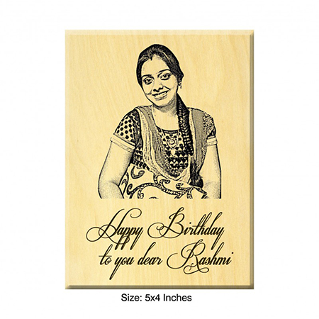 Birthday Present Ideas Engraved Photo On Maple Wood