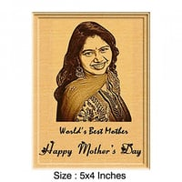 Mother's Day Gift Engraved Wooden Photo Plaque