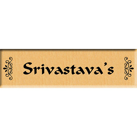 Personalized Famliy Name Plate or Door Sign (9 inches x3 inches)