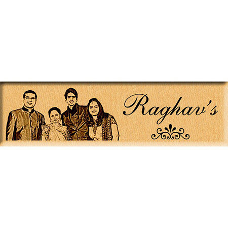 Personalized Photo Name Plate or Door Sign (9 x3 inches)