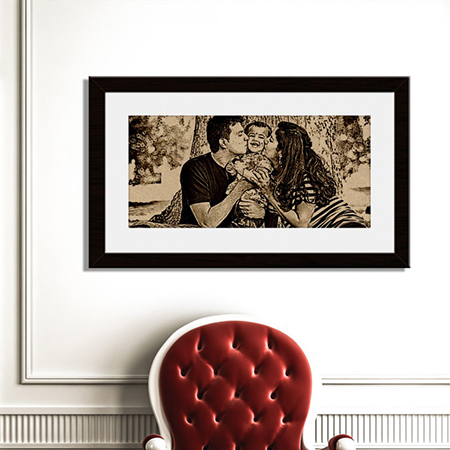 Personalized Wooden Engraved Photo (51cm x 30cm)