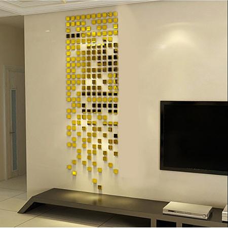 3D Wall Decor Stickers - Sqaure Mosaic