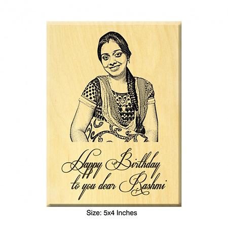 Birthday Present Ideas - Engraved Photo On Maple Wood