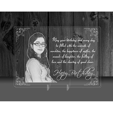 Incredible Gifts India Personalized Valentine'S Day Gift - Photo On Transparent Acrylic