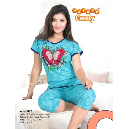 Girls Capri Night Suit
