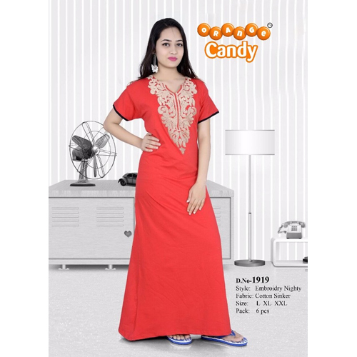 Ladies Embroidered Nighty