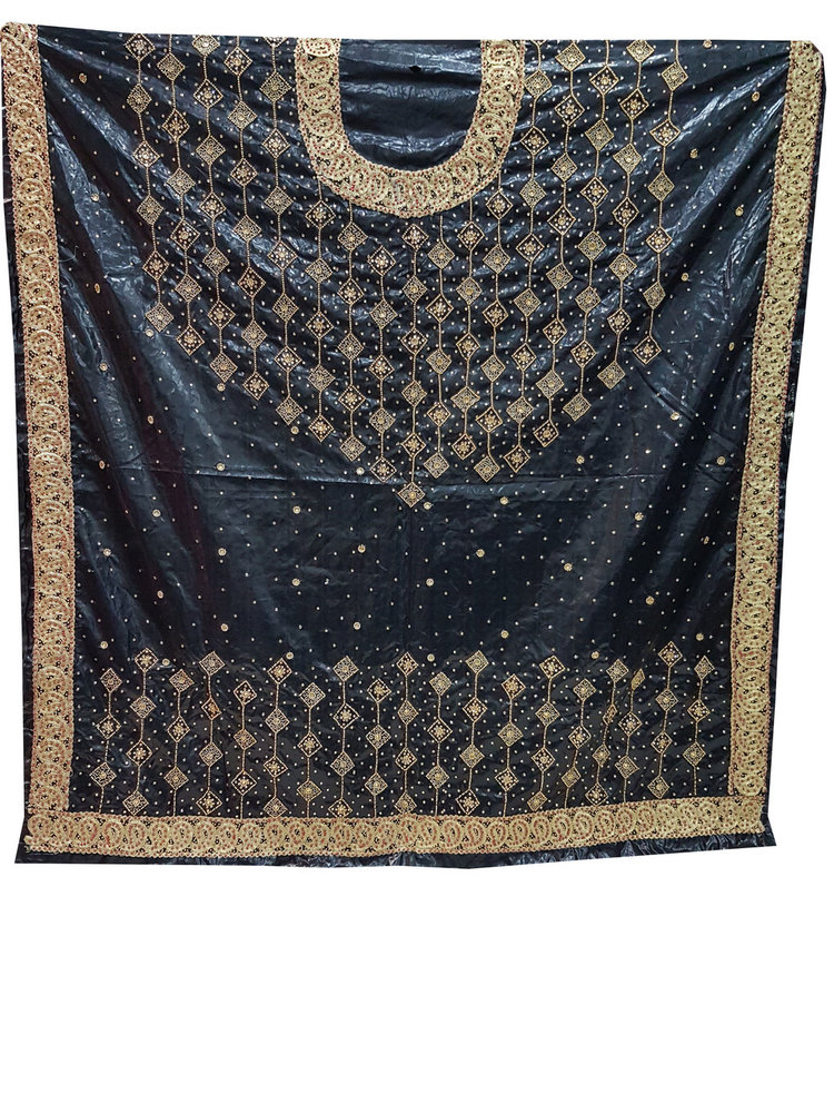 Bazin Perlage Black Color with Embroidery