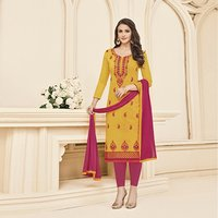Embroidered Straight Salwar Suit
