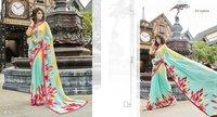 Georgette printed sarees online