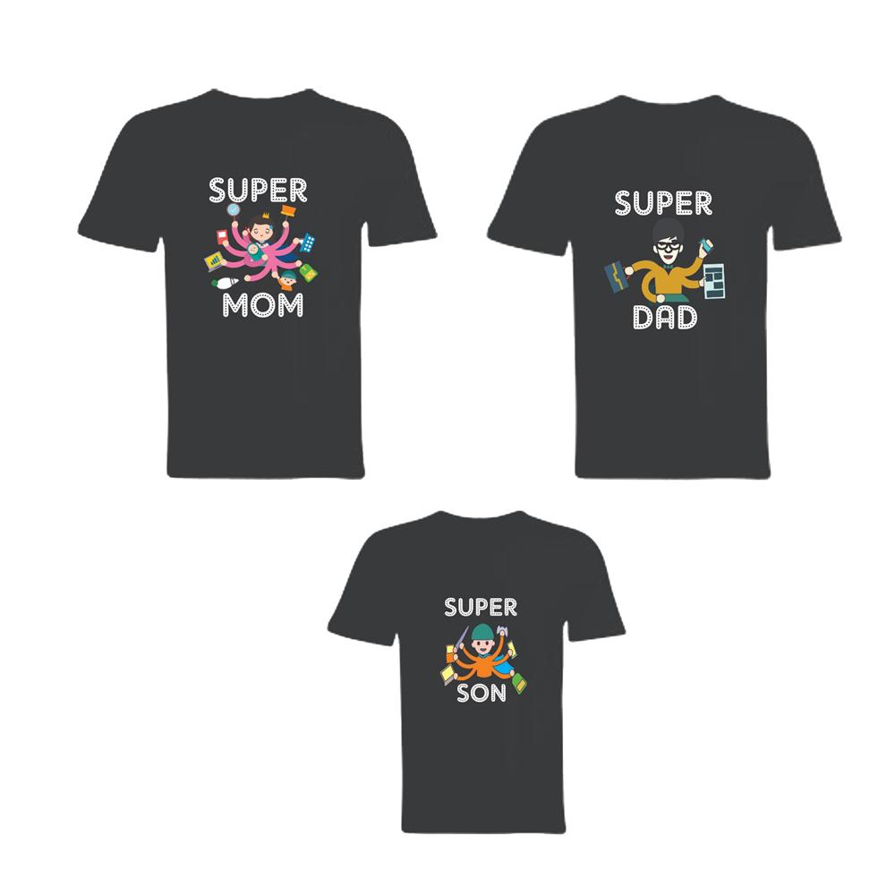 Super Mom, Dad & Son T-Shirt