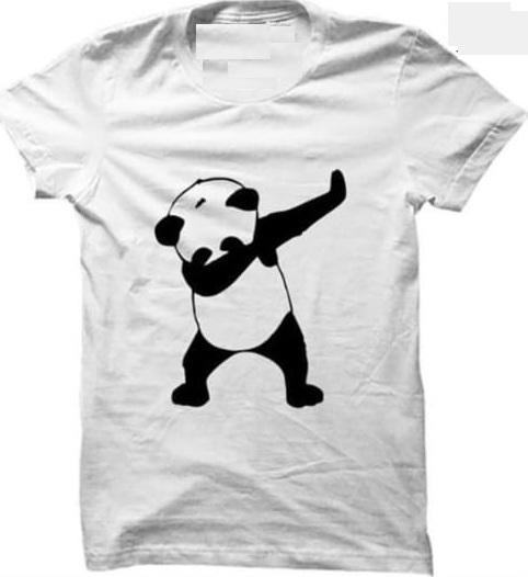 Panda Print T Shirt