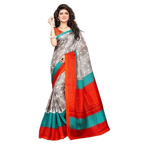 Jute Silk printed sarees